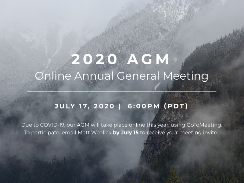 AGM 2020 announcement