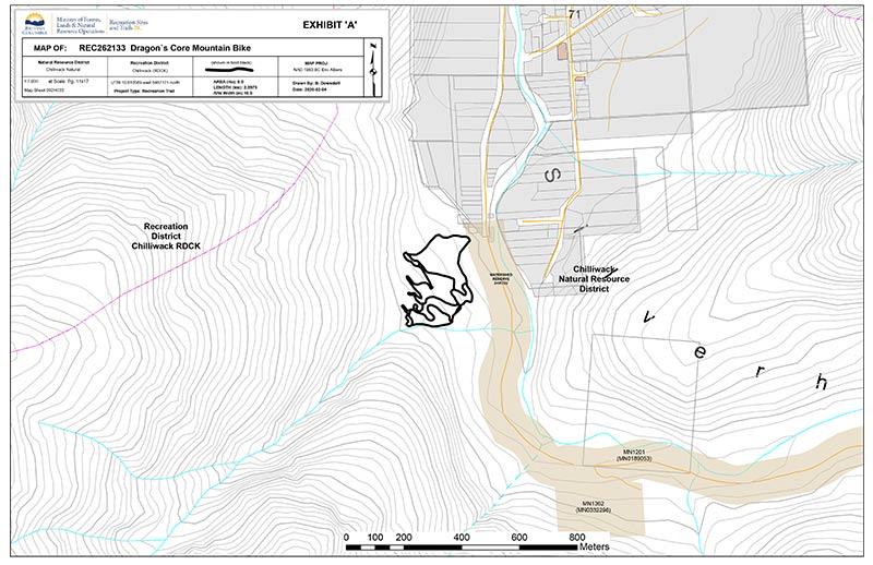 Dragon's Core Trail Map